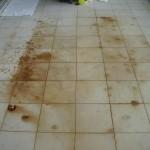 rust marks on tiles, rust on tiles, rust stains, rust on stone