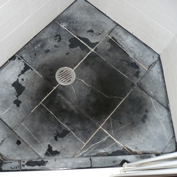 damaged tiles, used the wrong cleaning product