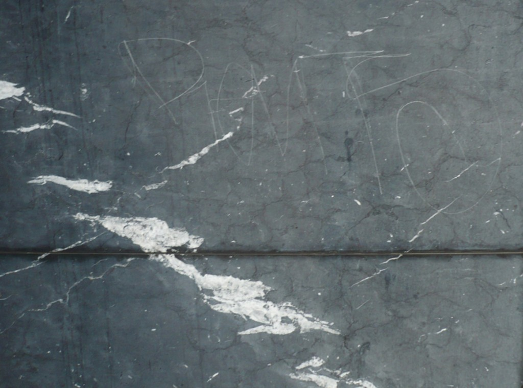 scratched tiles, scratched stone, scratched bluestone